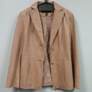 Kenneth Cole Tan Genuine Leather Jacket